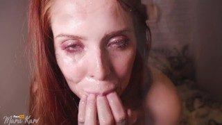Extremely Sloopy Deep Throat With Huge Vibrator With Facial ! Joined Fans for 50 Off!